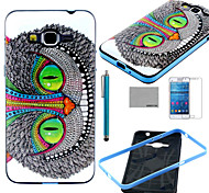 COCO FUN® Green Eyes Cat Pattern Soft TPU Case with Screen Protector and Stylus for Samsung GALAXY Grand Prime G530