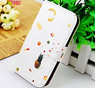 Fruit Around the Figure Wallet Stand PU Leather Case For Samsung Galaxy S2 SII I9100