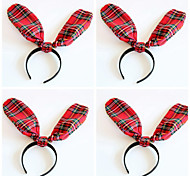 New Grid Rabbit Ears Party Club Headbands