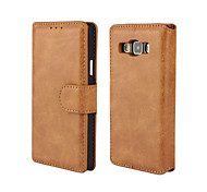 Solid Color Retro Scrub PU Leather Full Body Wallet Protective Case for Samsung Galaxy A3 A5 A7