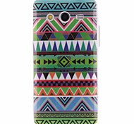 For Samsung Galaxy Case Pattern Case Back Cover Case Geometric Pattern TPU Samsung Core 2