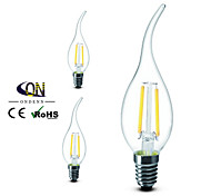 3PCS  ONDENN E14 2 W 2 X COB 200 LM 2800-3200K K Warm White A Dimmable Candle Bulbs AC 220-240 V