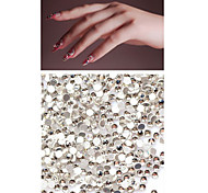 Nail Art DIY Decorations 50PCS Transparent Flat Diamonds/Rhinestones(Assorted Size)