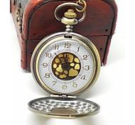 grosse montre vintage poche visage d'or avec quartz horloge analogique pendentif