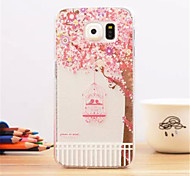 Pink cage Pattern Dermatoglyph Plastic Hard Back Cover for Samsung Galaxy S6