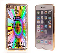Keep Calm and Be Original Design Luxury Hybrid Bling Glitter Sparkle With Crystal Rhinestone Case for iPhone 6