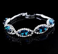 Exquisite Twist Shape Crystal Set Drill Button Type Bracelet