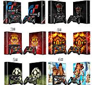 fútbol / hueso / de la piel de la historieta de pegatinas para Xbox 360 e versión