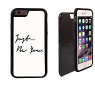Just Be You Design 2 in 1 Hybrid Armor Full-Body Dual Layer Shock-Protector Slim Case for iPhone 6 Plus