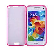 Transparent Flip Free Turn Touch PC and TPU Combo Full Package Phone Case for Samsung Galaxy S5 Mini (Assorted Colors)