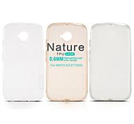 NILLKIN Nature Series Ultra Thin Transparent TPU Case for MOTO E2(XT1505)