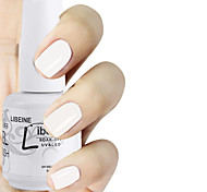 LIBEINE 1pc Soak Off 15 ML UV Gel Nail Polish Color Gel Polish 012# Sleek White