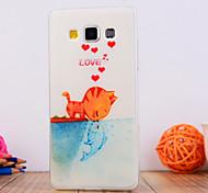 le motif de poissons chat baiser TPU étui souple pour Samsung Galaxy a3