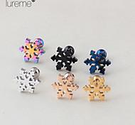 Lureme®Fashion Titanium Steel Snowflake Shape Ear Piercing  Body Jewelry Piercing(1 Pcs)(Random Color)