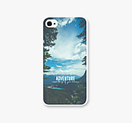 The Blue Sky and White Clouds Pattern PC Phone Case Back Cover for iPhone4/4S Case