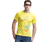 casual wear forider® t-shirt de manga curta montada rapidamente secos homens t-shirt equitação sportswear amarelo