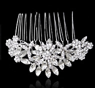 Fashion Luxurious Alloy Hand-made Flowers with Rhinestone and Crystal Wedding Bridal Headpieces