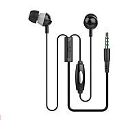en-3 jack de 3.5mm en los auriculares del oído con el mic para el iphone 6 5s htc Xiaomi mp3 mp4