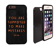 Supposed To Make Mistake Pattern 2 in 1 Hybrid Armor Full-Body Dual Layer Shock-Protector Slim Case for iPhone 6
