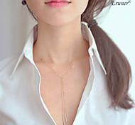 Euner® Vertical Double Chain Necklace