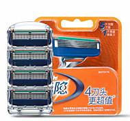 Gillette Fusion recambios de cuchillas de afeitar de los hombres manuales 4 recuento