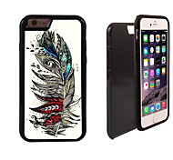 Colorful Feather Design 2 in 1 Hybrid Armor Full-Body Dual Layer Shock-Protector Slim Case for iPhone 6 plus