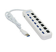 usb 3.0 a più 7 porte dell'adattatore del mozzo con l'interruttore per il pc& laptop& Windows supportano macbook MacOS bianco /