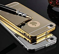 KX Brand Gold Version Metal Frame Acrylic All Mirror Backplane Metal Hard Case for iPhone 5/5S(Assorted Colors)