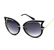 Sunglasses Women's Fashion Cat-eye White / Pink / Bright Black Sunglasses Full-Rim