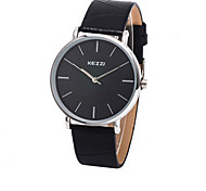 Men's Round Dial Case Leather Watch Brand Fashion Quartz Watch (More Color Available)