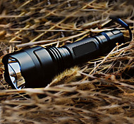 LED Flashlights / Handheld Flashlights LED 5 Mode 200 Lumens Rechargeable / Tactical / Self-Defense Cree XR-E Q5 18650 Others , Black