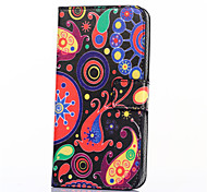 Jellyfish Pattern PU Leather Full Body Case with Stand and Card Slot for HTC Desire 526G+