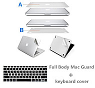 Top Quality Sliver Ultra Slim Full Body Protect Sticker and Keyboard Film for Macbook Air 13.3 inch (Assorted Colors)