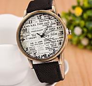 Frauen runden Zifferblatt Fall jean Uhrenmarke Mode Quarzuhr (gelegentliche Farbe)