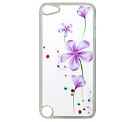 Beautiful Stamp Pattern Rhinestone Jewelry Hard Case for Ipod touch 5
