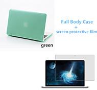 pvc cor sólida caso fosco de corpo inteiro com filme protetive tela para MacBook Air de 11,6 polegadas (cores sortidas)
