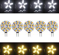 Luces de Doble Pin Ding Yao G4 7 W 15 SMD 5730 400-500 LM Blanco Cálido/Blanco Fresco AC 100-240 V 5 piezas