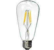 1 шт. E26/E27 4 W 4 X Высокомощный LED 300 LM 2600 К Тёплый белый LED лампа накаливания AC 85-265 V