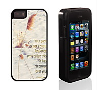 Past is Just a Story Pattern 2 in 1 Hybrid Armor Full-Body Dual Layer Shock-Protector Slim Case for iPhone 5/5S