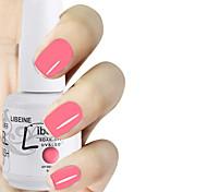 LIBEINE 1pc Soak Off 15 ML UV Gel Nail Polish Color Gel Polish 006# Pink