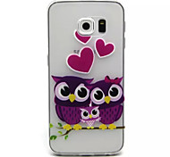 Relief Painting Purple Owl Pattern 0.2 Slim TPU Protective Shell for Samsung Galaxy  S6 Edge