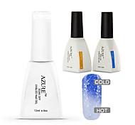 azzurro 3 pc / lotto impregna fuori uv led gel del chiodo del gel del chiodo del gel di colore manicure nail art (# 30 + base + top)