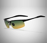 Sunglasses Men's Lightweight Wrap Black / Silver Sunglasses / Driving Half-Rim