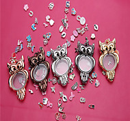 Owl Style Locket(Can be opened)Pendant(1Pc)