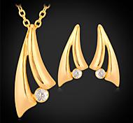 U7® 18K Gold Platinnum Plated Choker Necklace Jewelry et WA Rhinetone Jewelry For Women