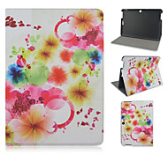 10.1 Inch Flower Pattern PU Leather Stand Case for Asus MeMO Pad 10-ME103K