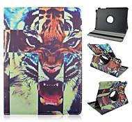 9.7 inch 360 graden rotatie tijger patroon stand case voor Samsung Galaxy Tab een 9,7 T550 / t551