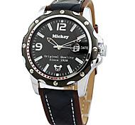 Japão movimento de quartzo relógios de pulso resistentes liga de alta qualidade pulseira de couro genuíno de água dos homens