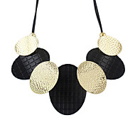 2014 Latest Costume Jewelry Alloy Oval Connected Statement Necklace