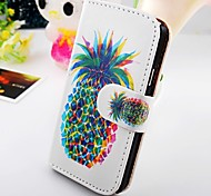 Pineapple Pu Leather Case for Samsung Galaxy S2  I9100